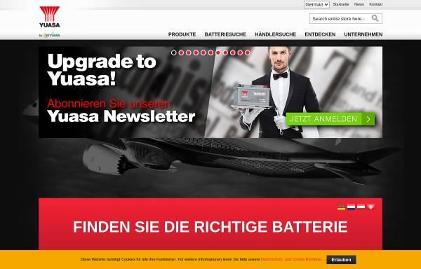 Vorschau von www.yuasaeurope.com, Yuasa Battery (Europe) GmbH