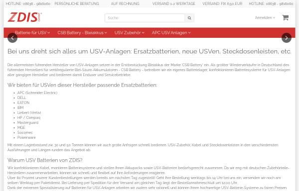 Vorschau von www.zdis.de, ZDIS GmbH