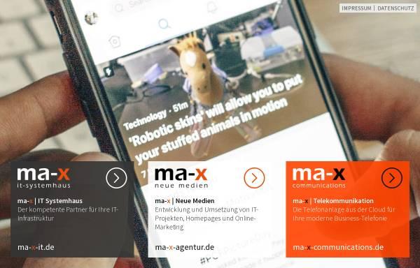Vorschau von ma-x.de, MA-X Neue Medien GmbH