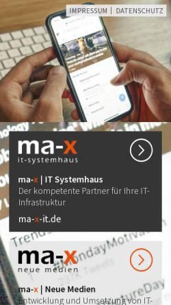 Vorschau der mobilen Webseite ma-x.de, MA-X Neue Medien GmbH