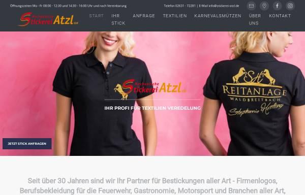 Vorschau von www.stickerei-atzl.de, Mechanische Stickerei Atzl GbR