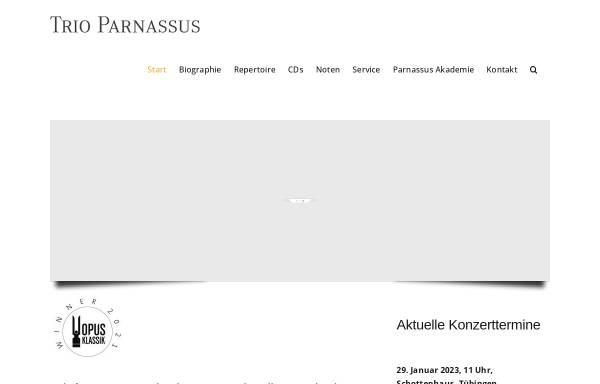 Vorschau von www.trioparnassus.com, Trio Parnassus