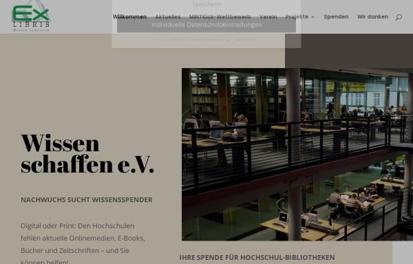 Vorschau von www.wissenschaffen.de, Ex Libris