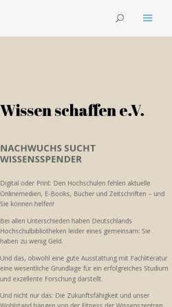 Vorschau der mobilen Webseite www.wissenschaffen.de, Ex Libris