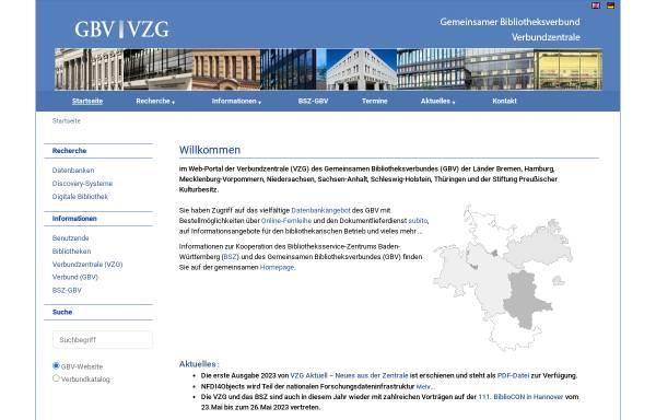 Vorschau von www.gbv.de, GBV, Gemeinsamer Bibliotheksverbund