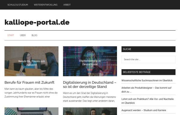Vorschau von www.kalliope-portal.de, Kalliope-Portal