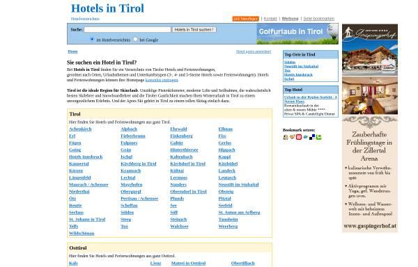 Vorschau von www.hotels-tirol.com, Hotels in Tirol