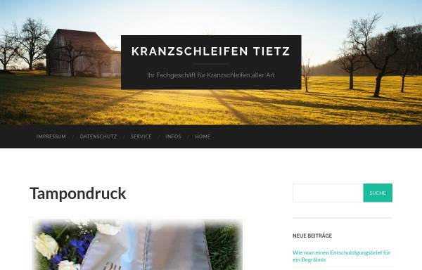 Vorschau von www.kranzschleifen-tietz.de, Roselies & Horst Tietz GbR