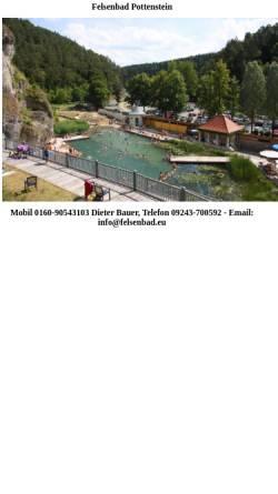 Vorschau der mobilen Webseite www.felsenbad-pottenstein.de, Felsenbad Pottenstein - Bayreuth