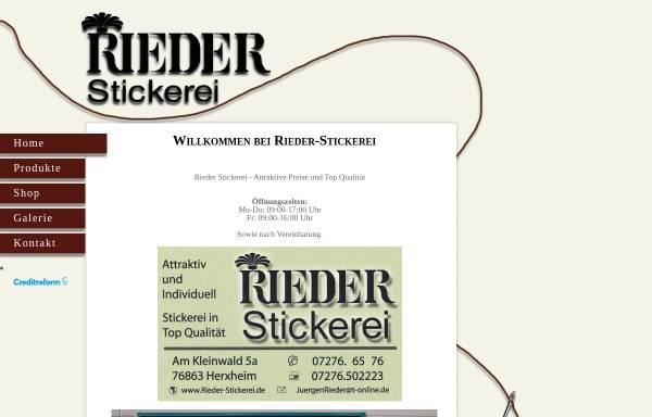 Vorschau von www.stickereirieder.de, Stickerei Rieder