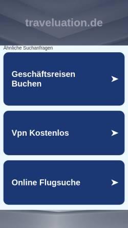 Vorschau der mobilen Webseite www.traveluation.de, Traveluation