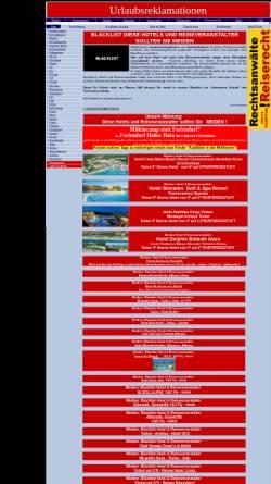 Vorschau der mobilen Webseite www.urlaubsreklamationen.de, Urlaubsreklamationen - Bereich Blacklist