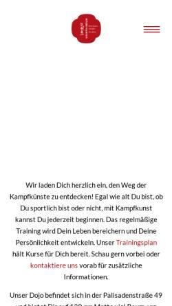 Vorschau der mobilen Webseite www.kikentai-berlin.de, Aikido & Ken-jutsu Dojo Kikentai
