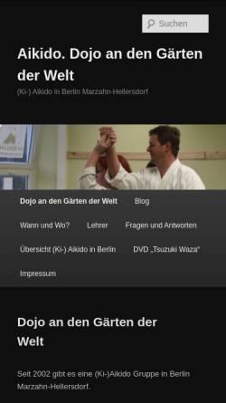 Vorschau der mobilen Webseite www.fiedermann.de, Ki-Aikido in Berlin-Marzahn-Hellersdorf