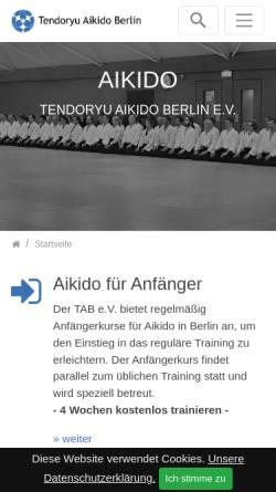 Vorschau der mobilen Webseite www.tendoryu-aikido.com, Tendoryu Aikido Berlin e.V.