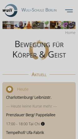 Vorschau der mobilen Webseite wuli-schule.de, WuLi-Schule Berlin