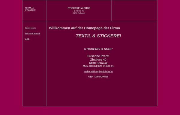 Vorschau von www.bestickung.at, Susanne Prantl