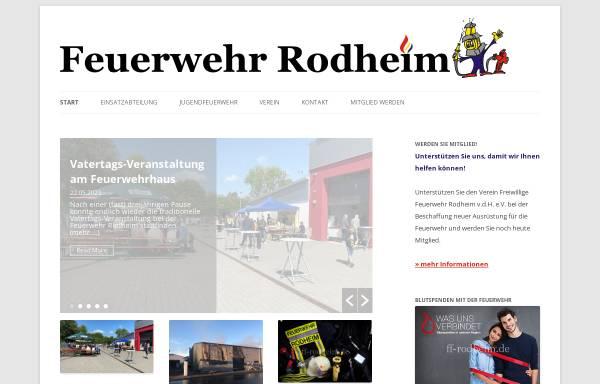 Vorschau von www.ff-rodheim.de, Freiwillige Feuerwehr Rodheim v.d.H. e.V