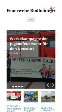 Vorschau der mobilen Webseite www.ff-rodheim.de, Freiwillige Feuerwehr Rodheim v.d.H. e.V