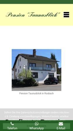 Vorschau der mobilen Webseite www.pension-taunusblick.de, Pension Taunusblick
