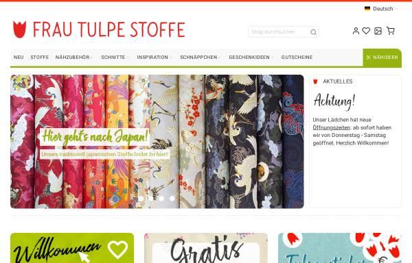 Frau Tulpes Onlineshop Tania Gehrmann Stoffe Handarbeiten