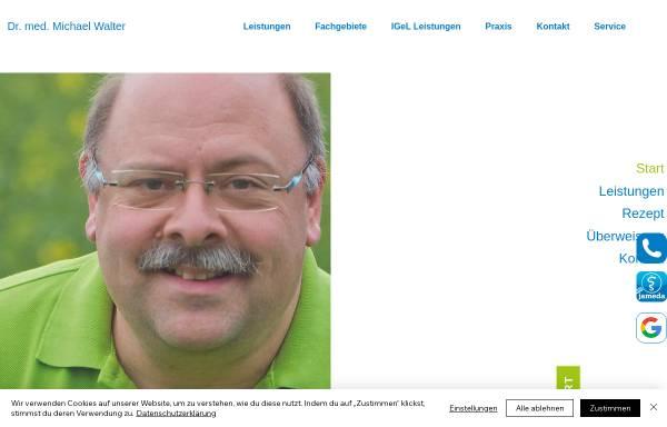 Vorschau von www.hausarzt-walter.de, Dr. med. Michael Walter