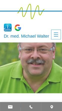 Vorschau der mobilen Webseite www.hausarzt-walter.de, Dr. med. Michael Walter