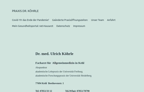 Vorschau von www.dr-koehrle.de, Dr. med. Ulrich Koerhle