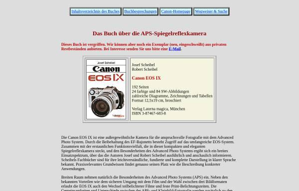 Vorschau von www.scheibel.de, Buchvorstellung: Canon EOS IX von Scheibel