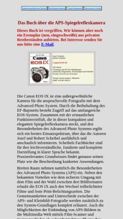 Vorschau der mobilen Webseite www.scheibel.de, Buchvorstellung: Canon EOS IX von Scheibel