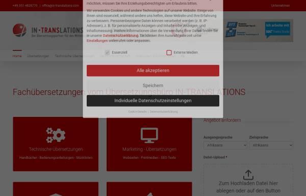 Vorschau von www.in-translations.com, IN-TRANSLATIONS GmbH