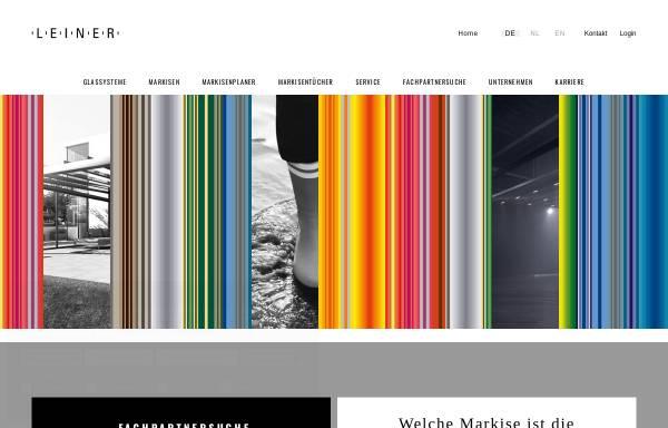 Vorschau von www.leiner-markisen.de, Leiner GmbH