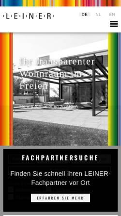 Vorschau der mobilen Webseite www.leiner-markisen.de, Leiner GmbH