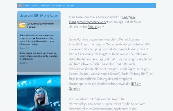 Vorschau von www.gusewski.ch, Pressebüro Marc Gusewski