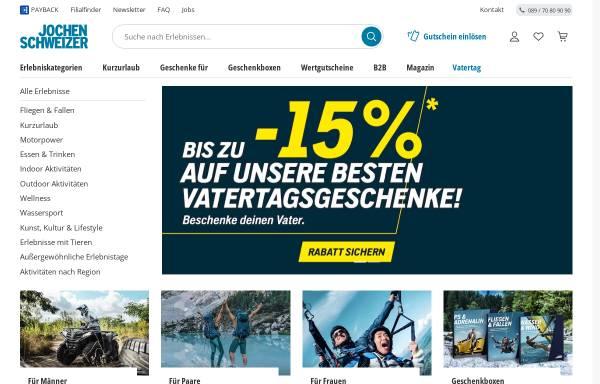 Vorschau von www.jochen-schweizer.de, Jochen Schweizer GmbH