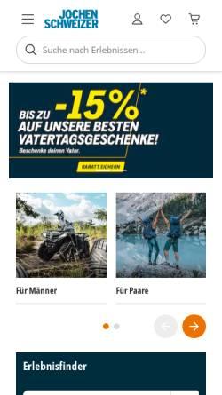 Vorschau der mobilen Webseite www.jochen-schweizer.de, Jochen Schweizer GmbH