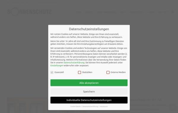 Vorschau von www.sonnenschutz.de, Sonnenschutz.de-B1 AG