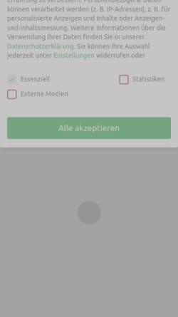 Vorschau der mobilen Webseite www.sonnenschutz.de, Sonnenschutz.de-B1 AG