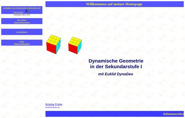 Vorschau von www.kristine-friebe.de, Aufgaben zur dynamischen Geometrie