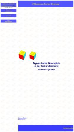 Vorschau der mobilen Webseite www.kristine-friebe.de, Aufgaben zur dynamischen Geometrie