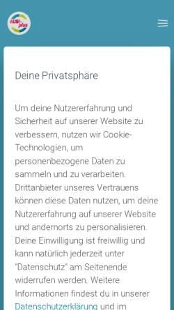 Vorschau der mobilen Webseite www.aubi-plus.de, AUBI-plus GmbH