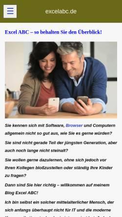 Vorschau der mobilen Webseite excelabc.de, Berti's Tipps und Tricks