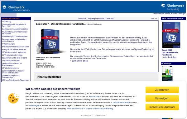 Vorschau von openbook.galileocomputing.de, Excel 2007 - Das umfassende Handbuch