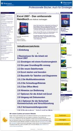 Vorschau der mobilen Webseite openbook.galileocomputing.de, Excel 2007 - Das umfassende Handbuch