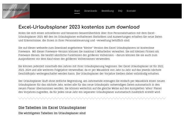 Vorschau von www.excel-urlaubsplaner.de, Excel Homepage Werner Theis