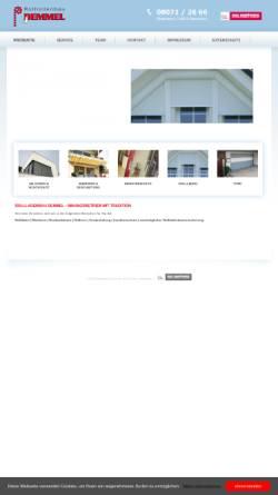 Vorschau der mobilen Webseite www.rollladenbau-demmel.de, Rollladenbau Demmel