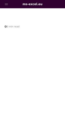 Vorschau der mobilen Webseite ms-excel.eu, ms-excel.eu