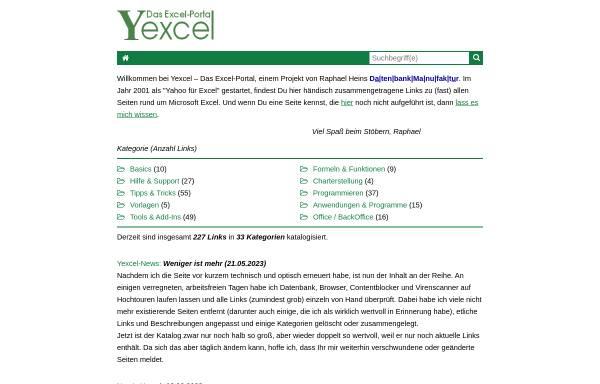 Vorschau von www.yexcel.de, YExcel
