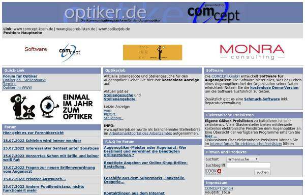 Vorschau von www.optiker.de, Optiker.de
