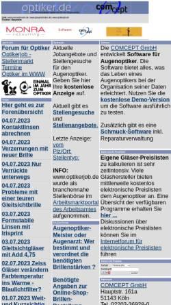 Vorschau der mobilen Webseite www.optiker.de, Optiker.de